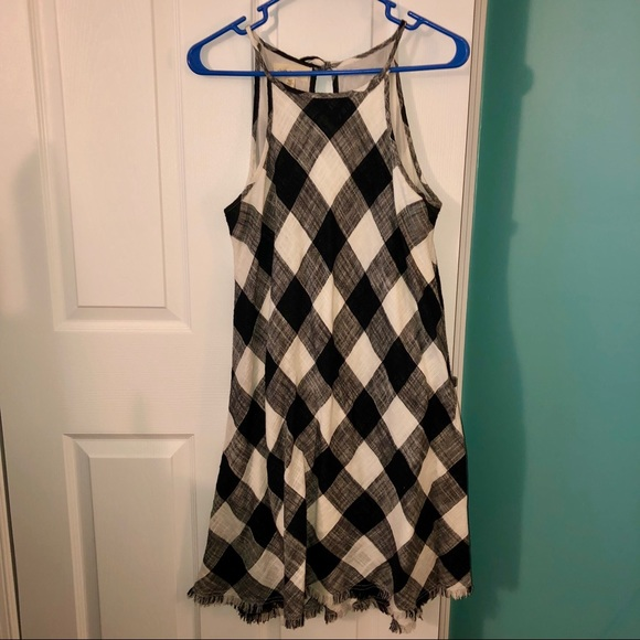 7211d2ffd41 cloth & stone Dresses & Skirts - Anthropologie Cloth & Stone Frayed Gingham  Dress